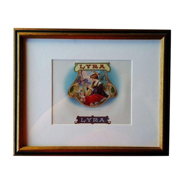 Cigar Box Wall Art: Framed Lyra Cigar Box Label