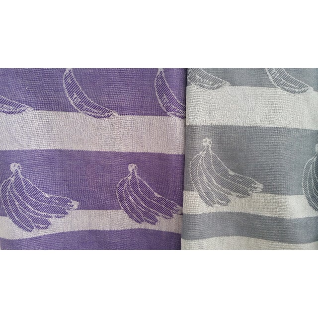 100% Cotton Lavender 'Beach Bananas' Towalla Linen - Image 5 of 6