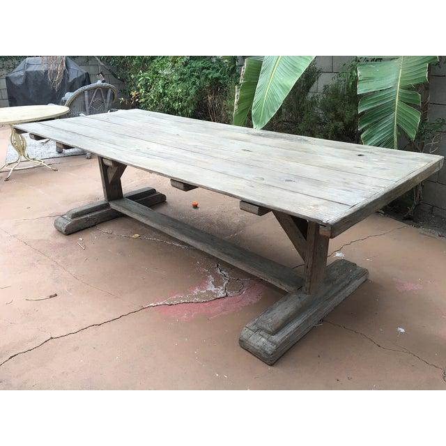 Antique Rustic Farm Table - Image 2 of 7