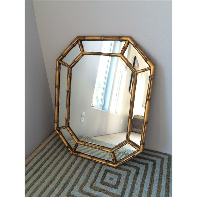 Vintage Gold Bamboo Mirror - Image 3 of 10