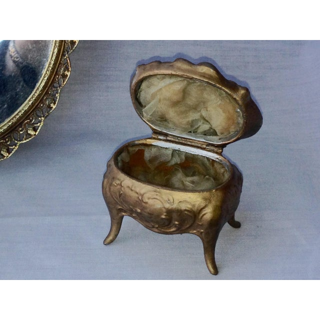 Vanity Tray & 2 Jewelry Ring Boxes - Set of 3 - Image 4 of 4