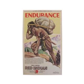 1932 Art Deco Montreal Native Chief Endurance Print
