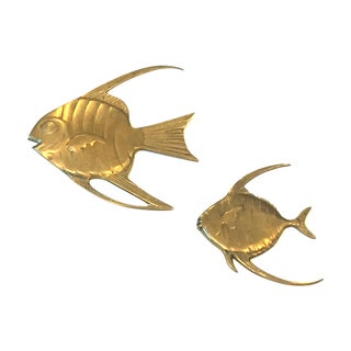 Brass Angel Fish - A Pair