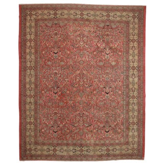 RugsinDallas Hand Knotted Wool Indian Agra Rug - 11′7″ × 14′5″