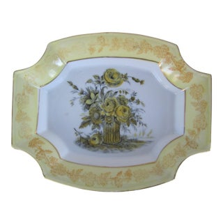 Vintage Porcelain Yellow Flower Catchall