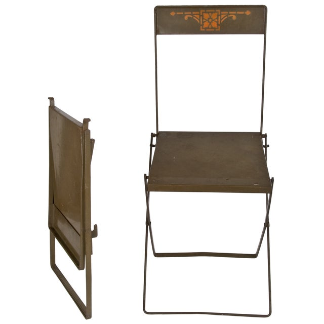Prairie Style Folding Iron Chairs - A Pair - Image 2 of 3