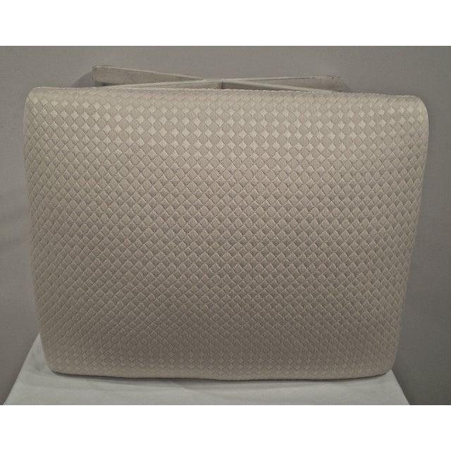 Image of Upholstered X-Base Stool