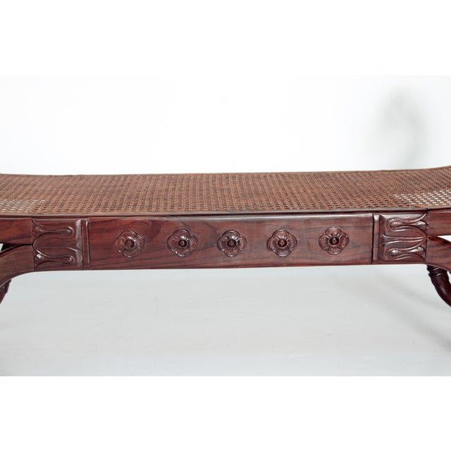 Group of Four English Style Carved Walnut Benches - Image 9 of 11