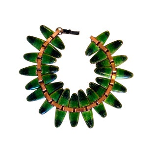 Matisse Green Enameled Copper Bracelet
