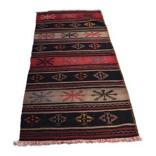 "Embroidered Turkish Kilim - 2'5"" x 6'2"""