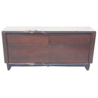 French Art Deco Macassar Ebony Sideboard / Buffet / Bar By Maurice Rinck Circa 1940s