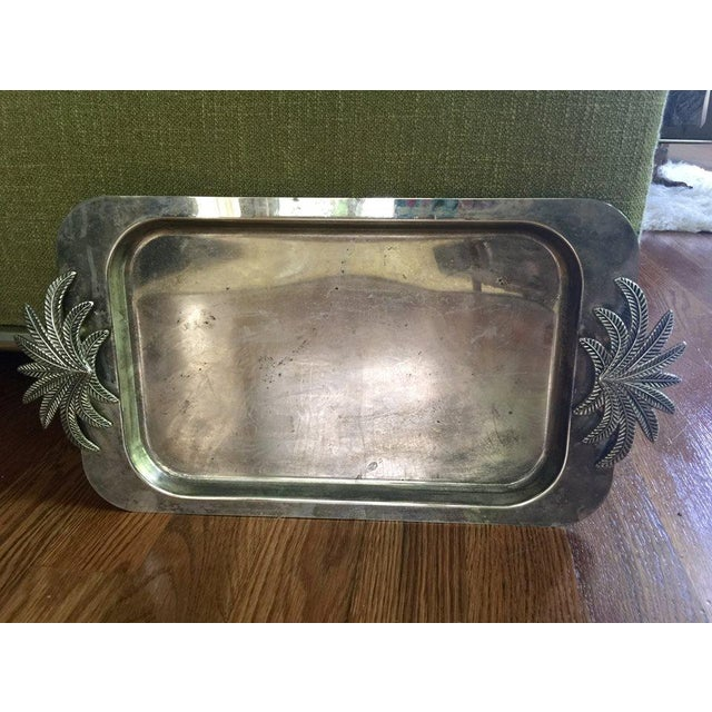 Image of Vintage Silver Palm Tray