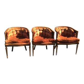 Mid-Century Drexel Cane Back Chairs - Set of 3