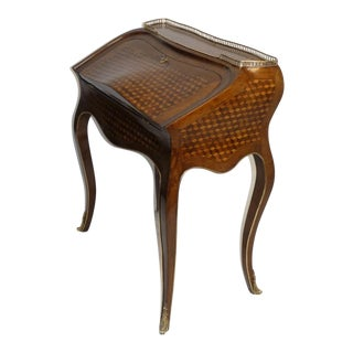 Louis XVI Style Slant Front Desk with Parquetry Inlay
