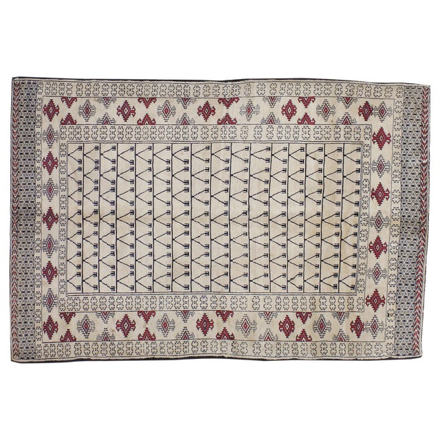 "Vintage Persian Baluchi Rug - 3'10"" X 5'10"" - Image 1 of 3"
