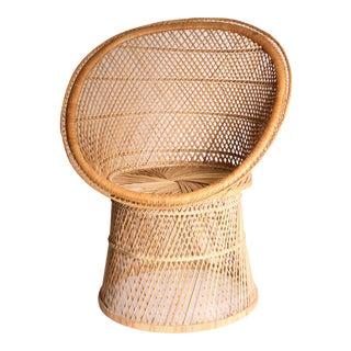 Vintage Boho Chic Wicker Pod Chair