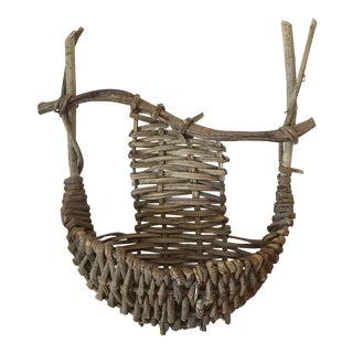 Antique Rustic Wall Hanging Basket
