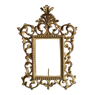 Rococo Style Gilt Brass Photo Frame