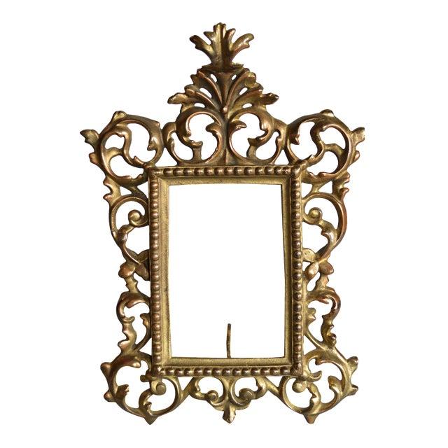 rococo style gilt brass photo frame chairish