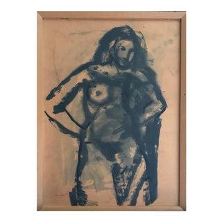 "1960 John Magill ""Standing Nude"" Bay Area Figurative Movement"