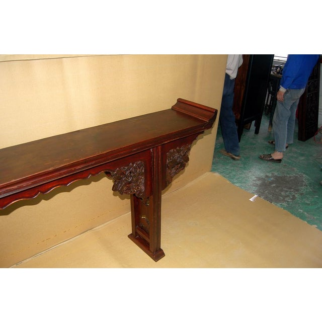 Asian Antique Carved Altar Table - Image 6 of 7