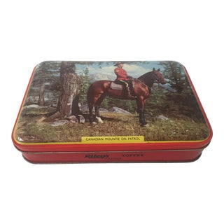 Mid-Century Canadian Mountie on Patrol Riley's English Toffee Tin