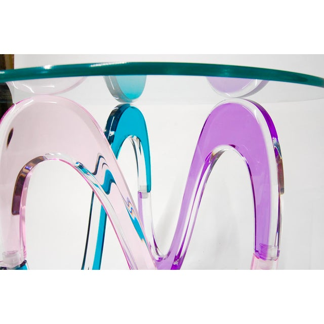 Haziza Memphis Style Multi-Colored Lucite Side Table - Image 4 of 11