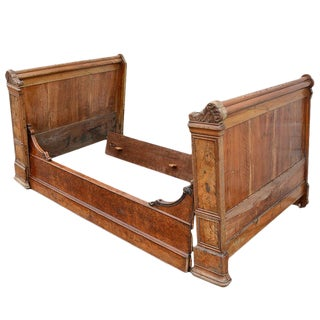French Provincial Twin Sleigh Bed