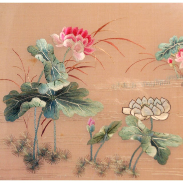 Antique Chinese Silk Embroidery - Image 4 of 8