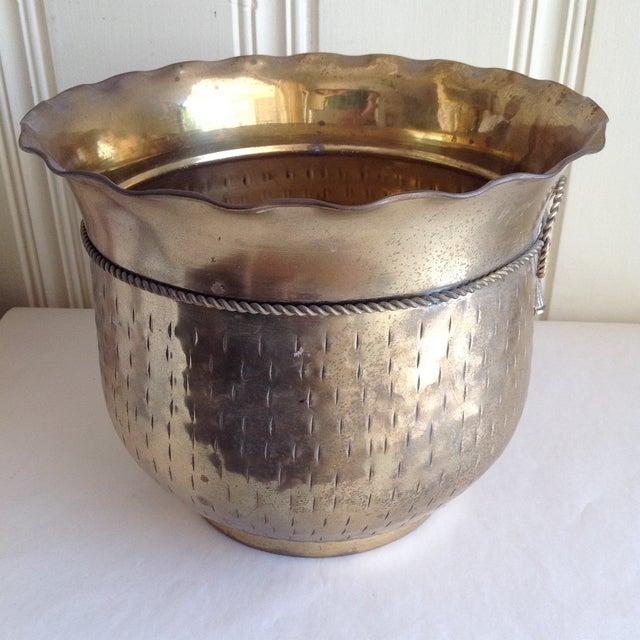 Vintage Etched Metal Brass Vessel - Image 5 of 9