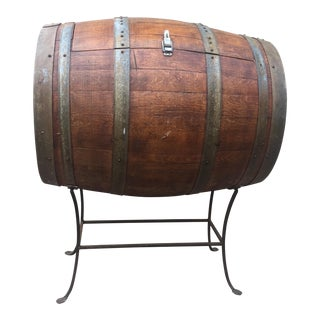 Vintage French Wine Barrel Cooler