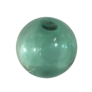Vintage Large Aqua Glass Fishing Float