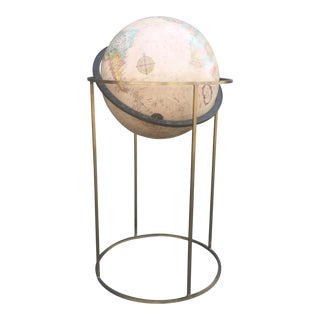 Paul McCobb Mid-Century Globe on Brass Stand