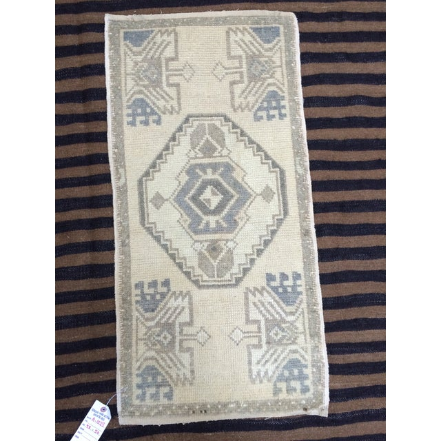 Anatolian Hand-Knotted Rug - 1′7″ × 3′1″ - Image 3 of 6