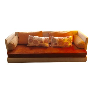 Ligne Roset Orange & Gold Couch