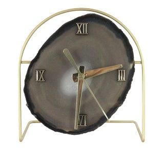 Handmade Modern Gray SoLo Agate Clock