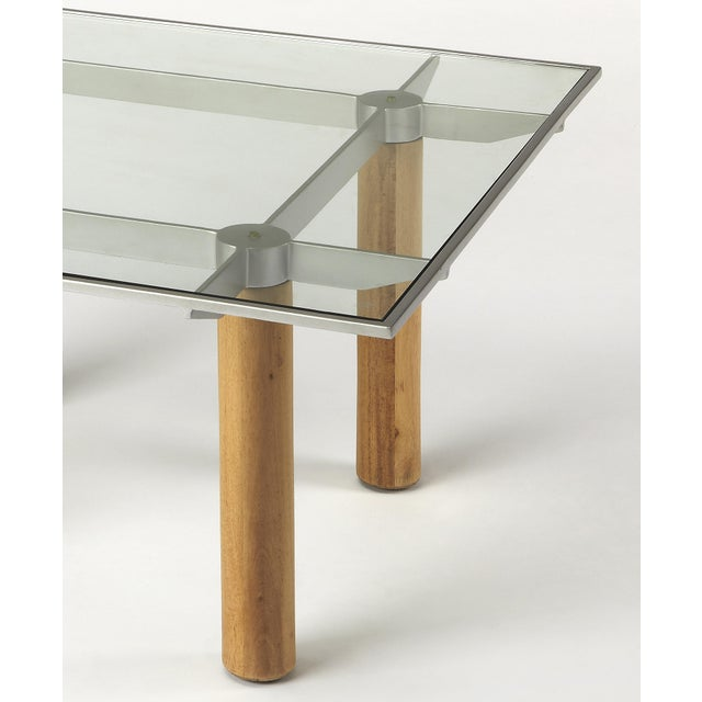 Butler Specialty Cirrus Glass & Metal Coffee Table - Image 2 of 3