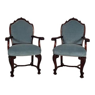 Regency Mahogany Open Armchairs - A Pair