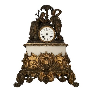 Antique Classical Figural Mantle Clock