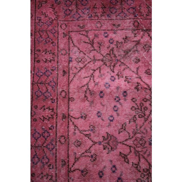 Rosa Vintage Overdye Pink Rug - 3′10″ × 7′ - Image 4 of 4