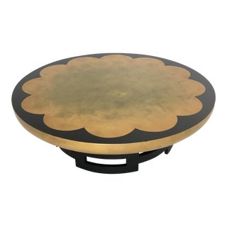 Muller & Barringer for Kittinger Gold Leaf Lotus Coffee Table