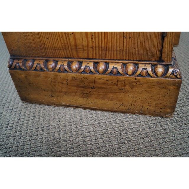 Custom Made English Regency Pine Breakfront - Image 8 of 10