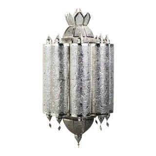 Silver Metal Latticework Lantern