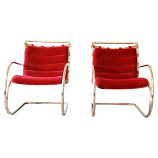 Mies Van der Rohe MR-20 Lounge Chairs - A Pair