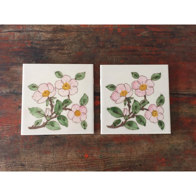 Franciscan Desert Rose Trivets or Tiles - a Pair - Image 2 of 7