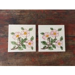 Image of Franciscan Desert Rose Trivets or Tiles - a Pair