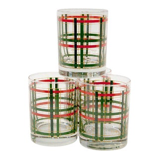 """George Briard"" Tartan Cocktail Glasses - Set of 4"