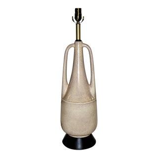 Art Deco Crackled Glaze Amphora Form Modern Table Lamp