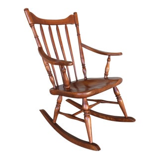 Vintage Cushman Colonial Creations Maple Rocking Chair
