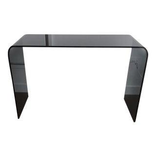 Ligne Roset Pont Smoked Glass Console Table